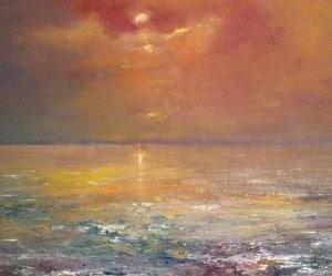 Summer Ocean Sky, oil on canvas board, by Steve Smart, 2013 cropped