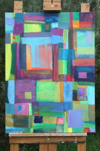 Francine Sherman Abstract blocks oil
