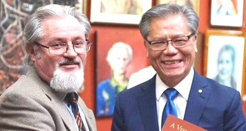 Dr Adam Dutkiewicz & His Excellency Hieu Van Le 00