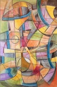 Organic Constrictivism #1 2002 Pastel on Paper 140x102cm